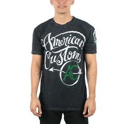 Affliction - Mens Zed T-Shirt In Blk Crinkle Lava