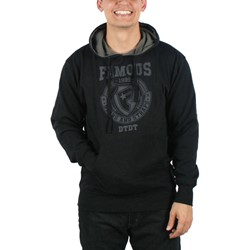 Famous Stars and Straps - Mens Division Pullover Hoodie in Black