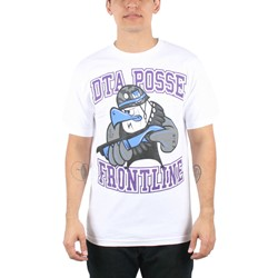 Rogue Status/DTA - Mens Angry Eddie Mens T-Shirt in White/Purple