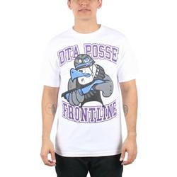 Rogue Status/DTA - Mens Angry Eddie Mens T-Shirt in White/Purple