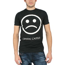 Crystal Castles - Sad Face Mens Slim Fit T-Shirt in Black