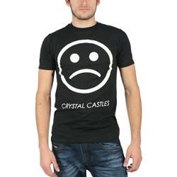 Crystal Castles - Sad Face Mens Slim Fit T-Shirt in Black