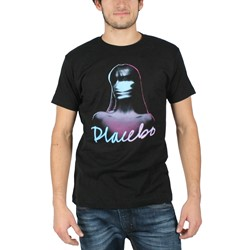Placebo - Girl Logo Mens Slim Fit T-Shirt in Black