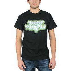 Deep Purple - 3D Type Mens T-Shirt in Black