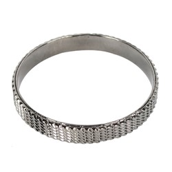 Han Cholo - Tread Bangle in Gunmetal