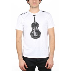G.P.P.R. - Mens Bass Head T-Shirt in White