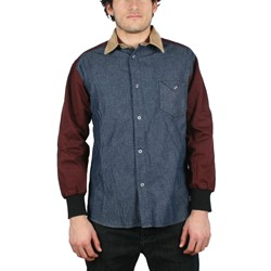 G.P.P.R. - Mens Prodigy Woven Shirt in Blue Chambray