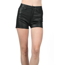 Tripp NYC Juniors / Womens PVC High Waisted Shorts in Black
