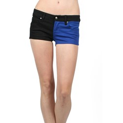 Tripp Nyc - Split Shorts Shorts In Black/Royal