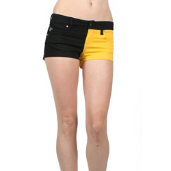 Tripp Nyc - Split Shorts Shorts In Black/Yellow