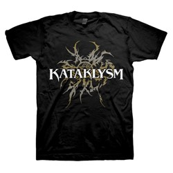Kataklysm - Mens Gold Tribal Logo T-Shirt In Black