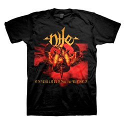 Nile - Mens Annihilation Of The Wicked T-Shirt In Black