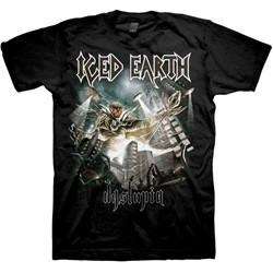 Iced Earth - Mens Dystopia-Back T-Shirt In Black