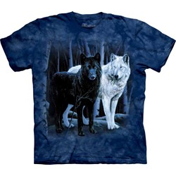 The Mountain - Mens Black & White Wolves T-Shirt