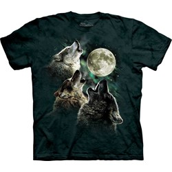 The Mountain - Youth Three Wolf Moon T-Shirt