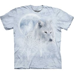 The Mountain - Mens White Wolf Moon T-Shirt