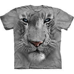 The Mountain - Youth White Tiger Face T-Shirt