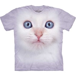 The Mountain - Mens White Kitten Face T-Shirt