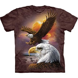 The Mountain - Mens Eagle & Clouds T-Shirt