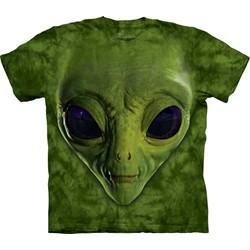 The Mountain - Mens Green Alien Face  T-Shirt