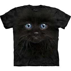 The Mountain - Mens Black Kitten Face  T-Shirt