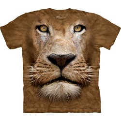 The Mountain - Mens Lion Face  T-Shirt
