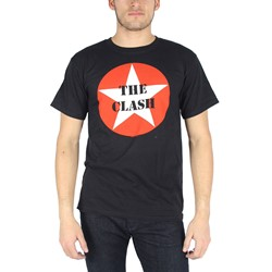 The Clash - Mens Star Logo T-Shirt in Black