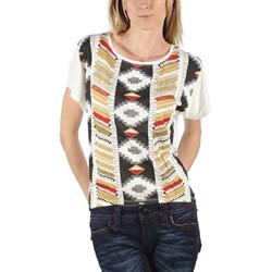 BB Dakota - Womens Lonna Fashion Top in White Pattern