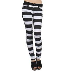 Tripp NYC - Womens Split Jeans in Black/White