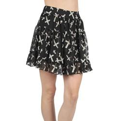 Tripp NYC - Womens Chiffon Skirt in Black/White