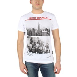 Fresh Brand - Mens Cityscape T-Shirt in Optic White