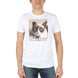 Grumpy Cat - Mens Fun Box T-Shirt in White