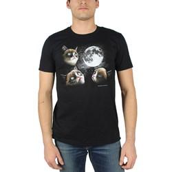 Grumpy Cat - Mens Moon T-Shirt in Black