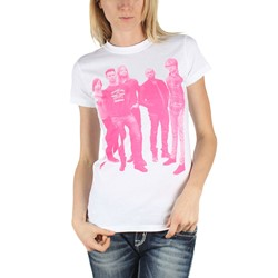 Maroon 5 - Womens Pink Halftone T-Shirt in White