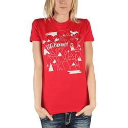 Maroon 5 - Womens Mountains T-Shirt in Red