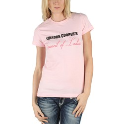 Big Bang Theory - Womens Council of Ladies T-Shirt in Light Pink