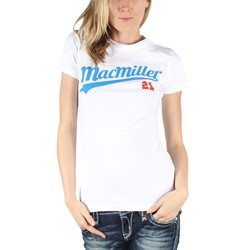 Mac Miller - Womens 21 Baseball Script T-Shirt in White