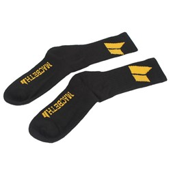 Macbeth - Mens Classic Socks in Black/Yellow
