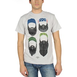 Duck Dynasty - Mens Beards in Color T-Shirt in Silver