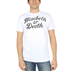 Macbeth - Mens Macbeth or Death T-Shirt in White