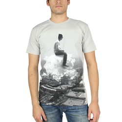 Imaginary Foundation - Mens Cloud Rider T-Shirt in Silver