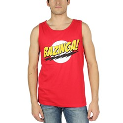 Big Bang Theory - Mens Bazinga Tank Top in Red