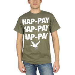 Duck Dynasty - Mens Hap-pay Hap-pay T-Shirt in Military Green