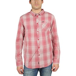 KR3W - Mens Routine L/S Woven Shirt in Red