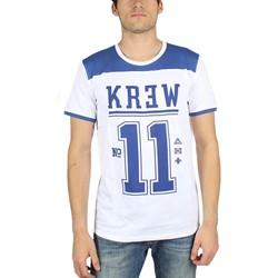 KR3W - Mens Division T-Shirt in White/Navy
