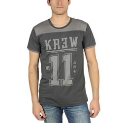 KR3W - Mens Division T-Shirt in Charcoal Grey