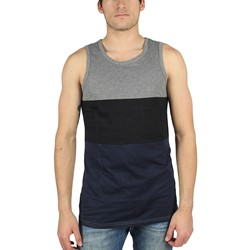 DTA/Rogue Status - Mens Nightfall Tank Top in Black/Charcoal/Navy