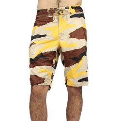 Stussy - Mens Beach Camo Boardshorts in Gold