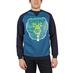 Mishka - Mens Death Adders Crewneck Sweater in Navy