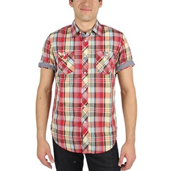 Fresh Brand - Mens The Davis Woven Shirt in Red